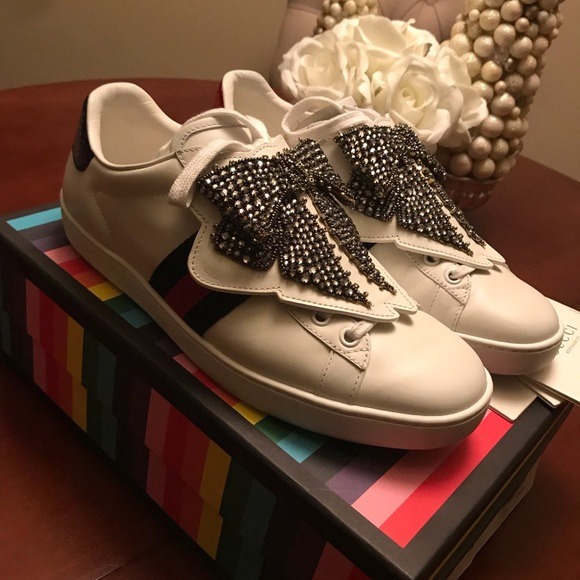 Gucci Ace Sneaker W Removable Crystal